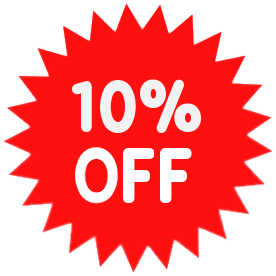 10% discount on all orders !